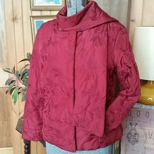 Coldwater Creek embroidered  quilted loft coat